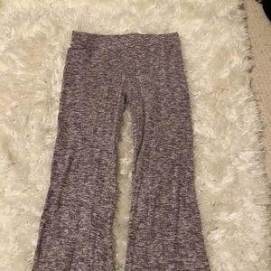 Purple flares pajama bottoms